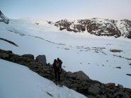 avvicinamento al ghiacciaio