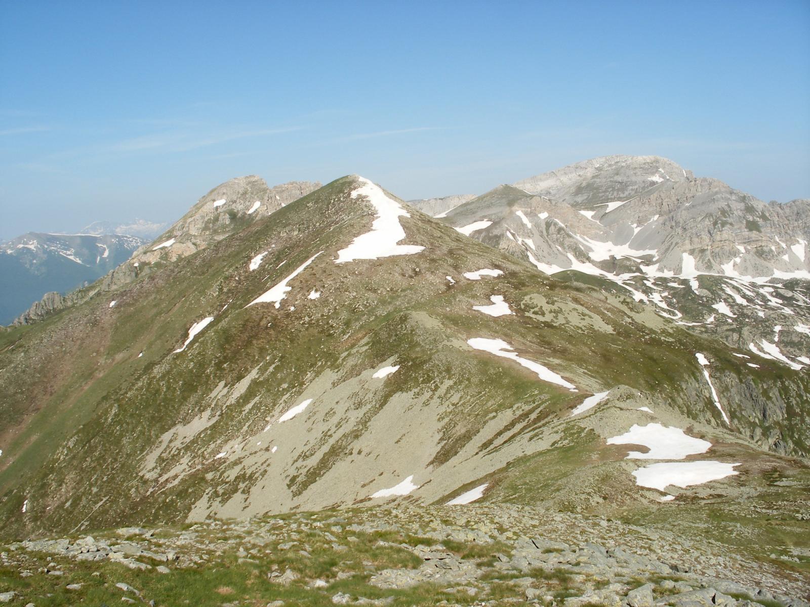 la dorsale ovest con Cima Roccate e Conoia a sx