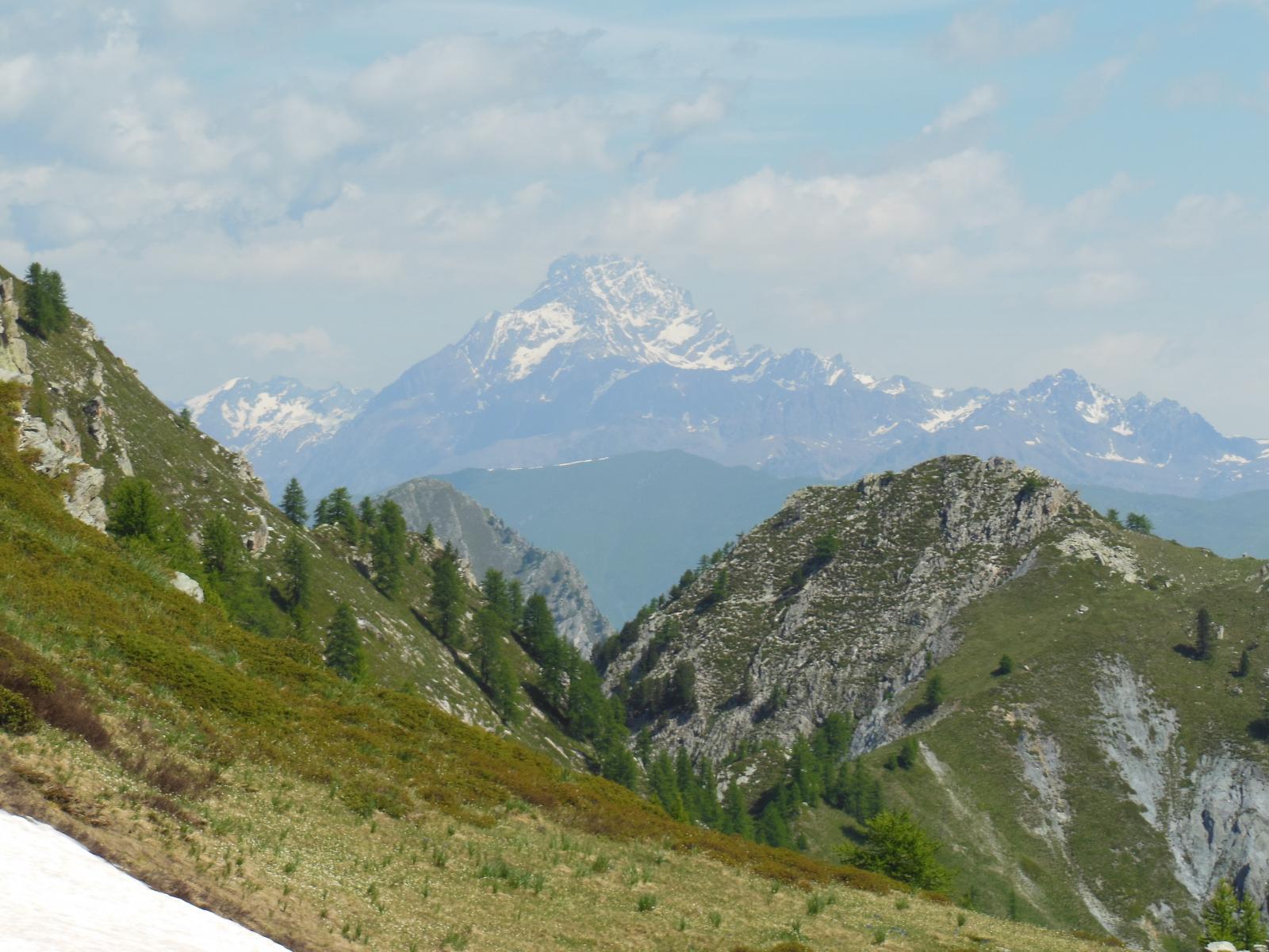 Il Viso tra il Monte Bert e il Monte Baret