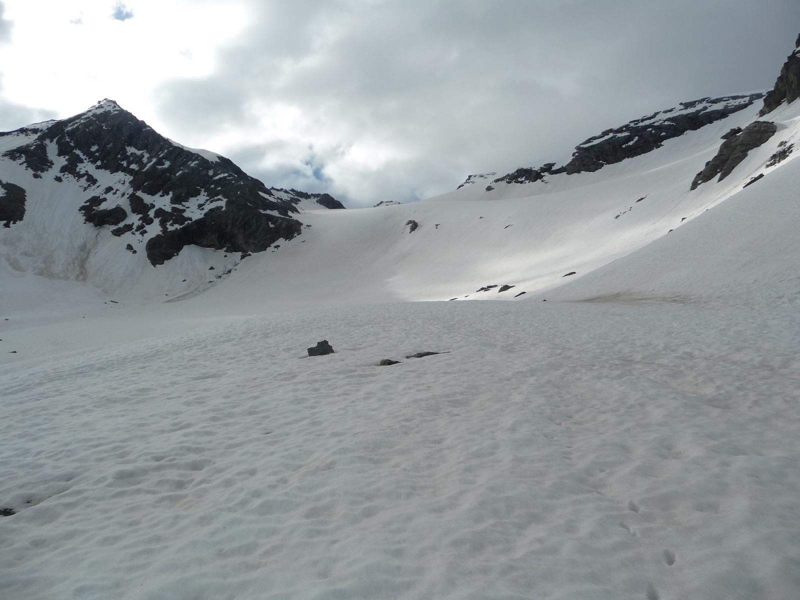 Innevamento sul ghiacciaio