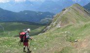 In discesa verso l'alpe Tsa de Fontaney
