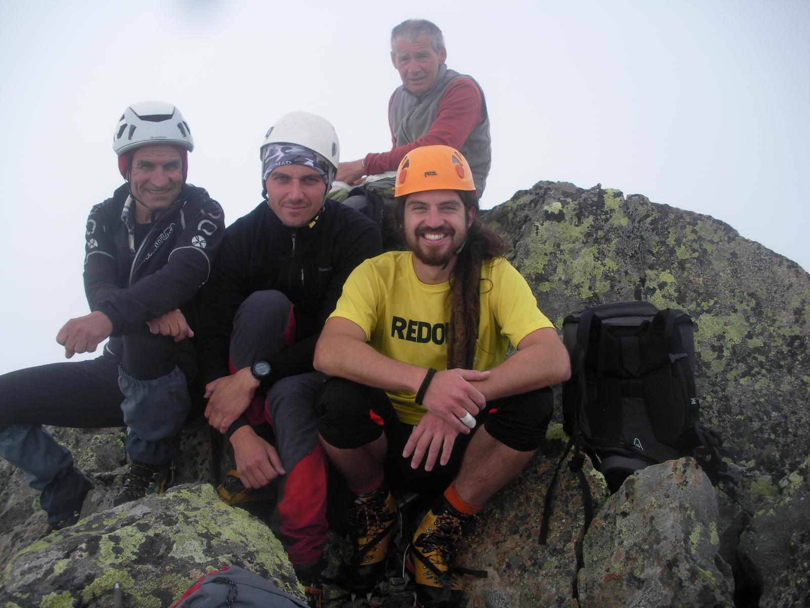 Con Franco (dietro) Diego (in mezzo) e Pablo in vetta alla P.Rizzetti