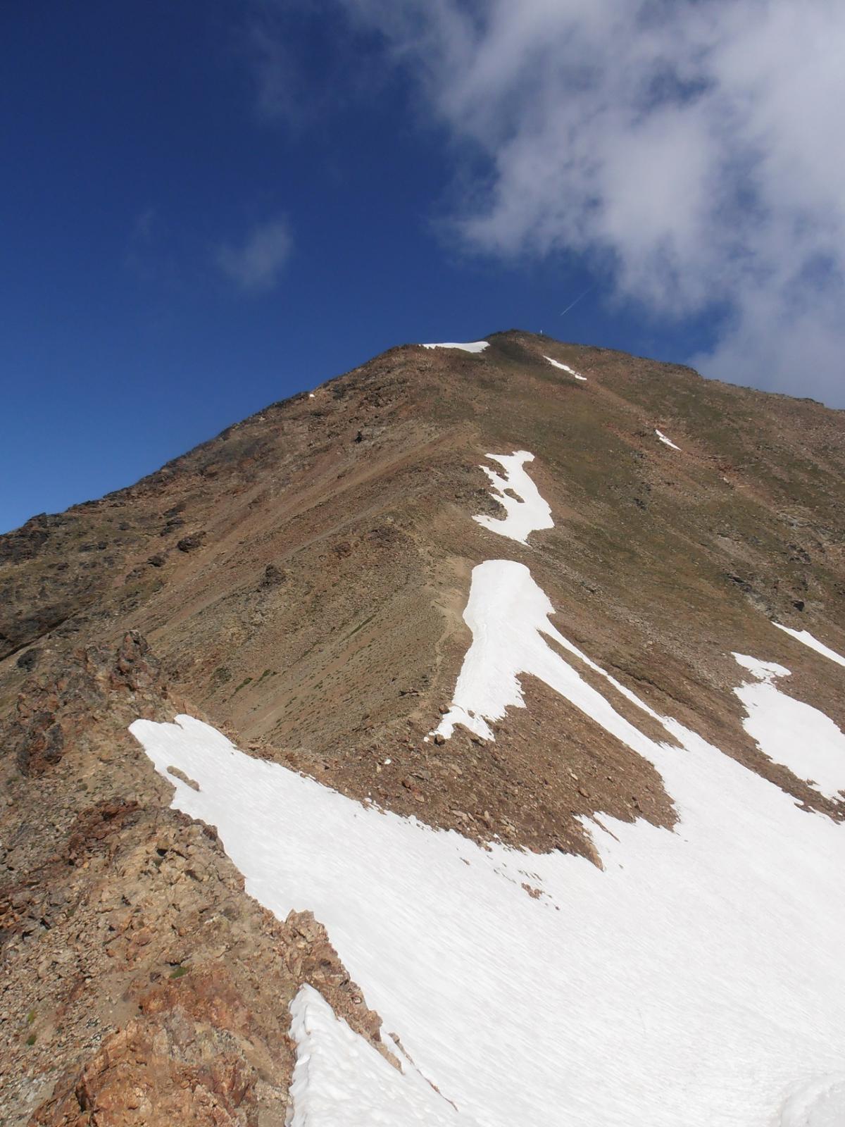 02 - innevamento dal Col Carrel alla cima