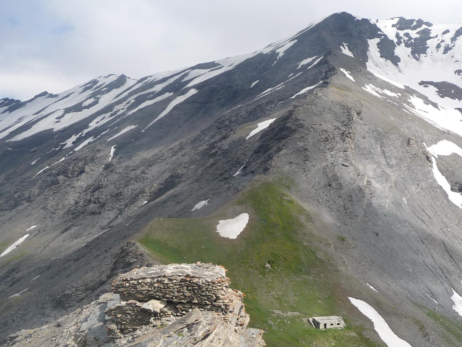 la cima del Gran Vallone da Roccia Verde