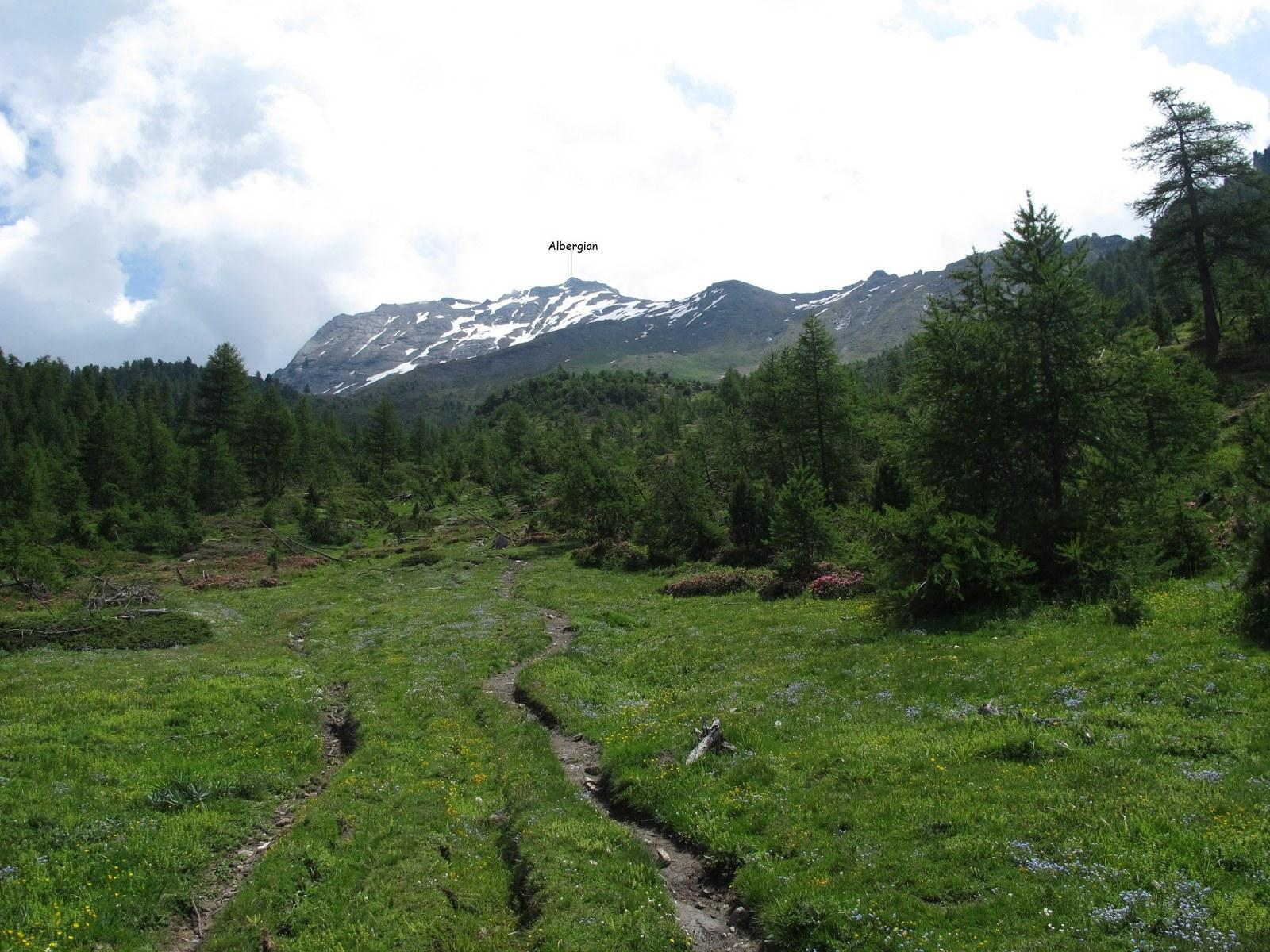 La punta vista in prossimità della bergeria