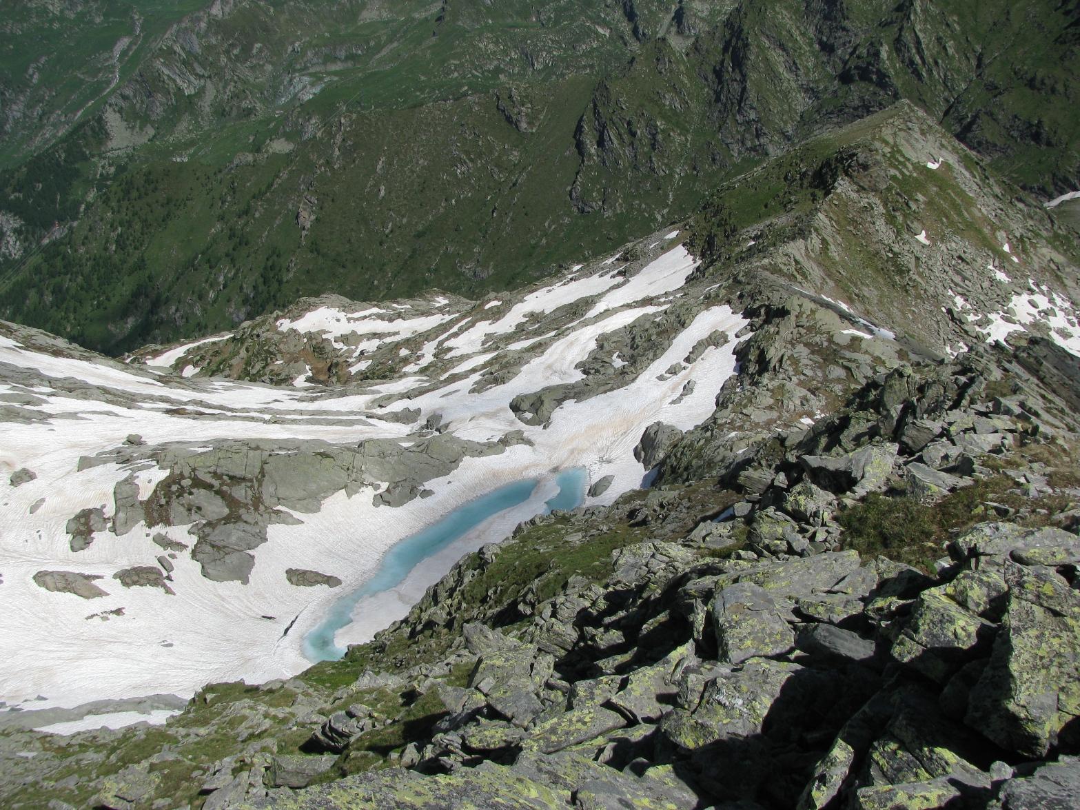 Dalla Chiose Centrale, il sottostante Lago e Punta Giassetto
