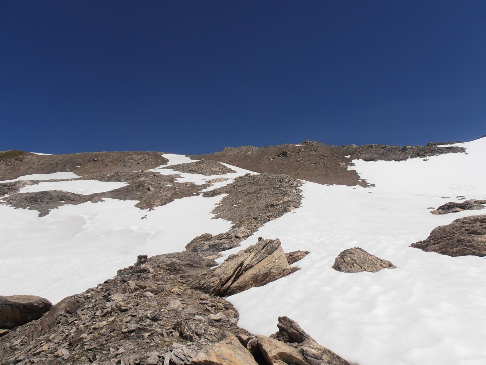 05 - la rampa finale per la cima volendo si fa anche su ghiaioni