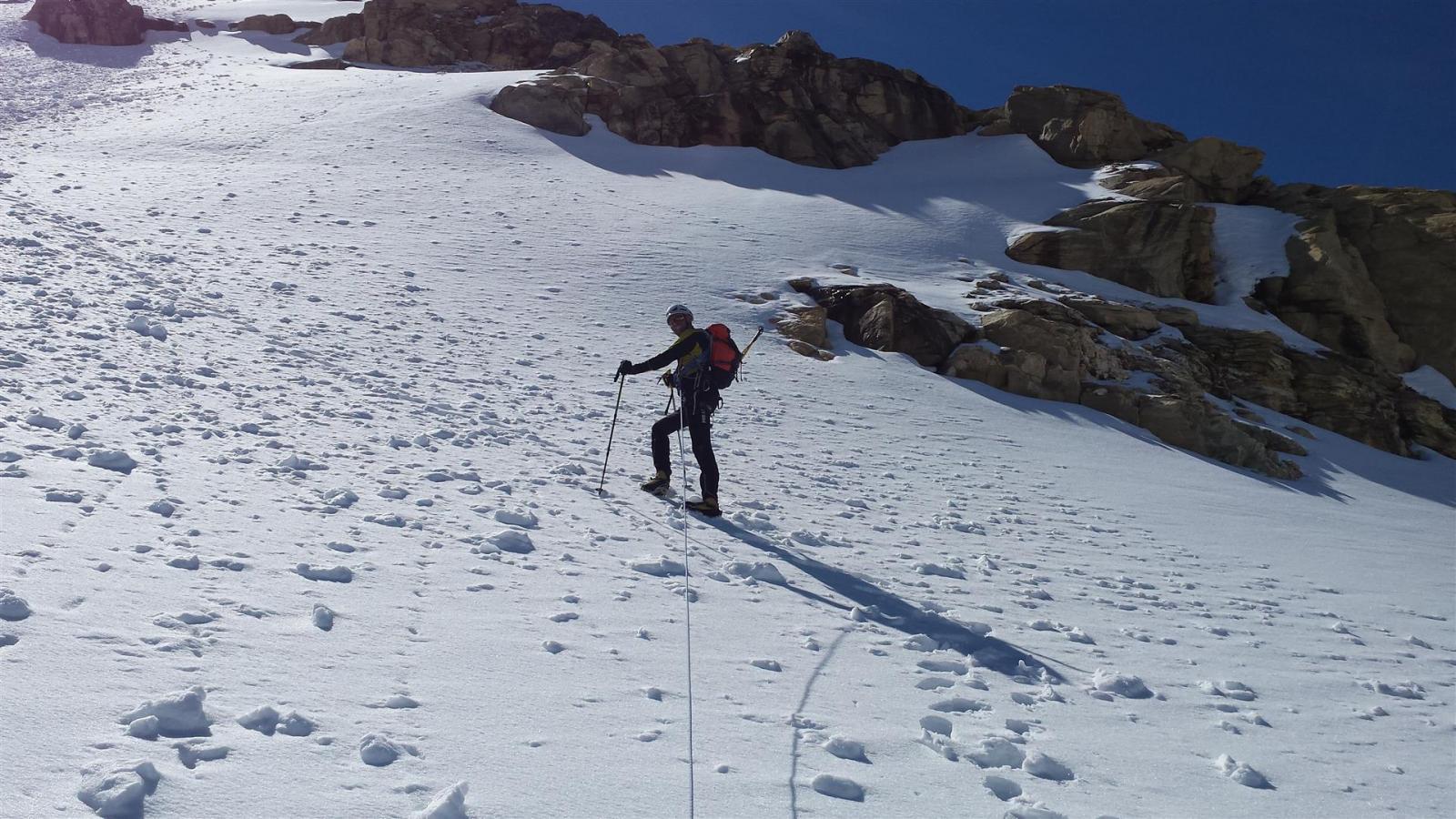 attraversato il ghiacciaio ora si sale