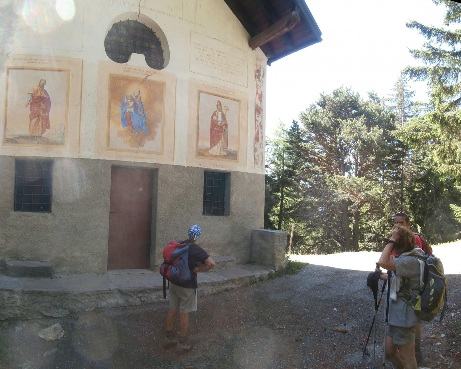 l'arrivo alla cappella di St. Pantaleone...