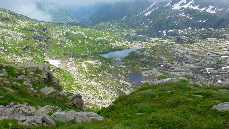 Lago Bojret dal Colle della Forca