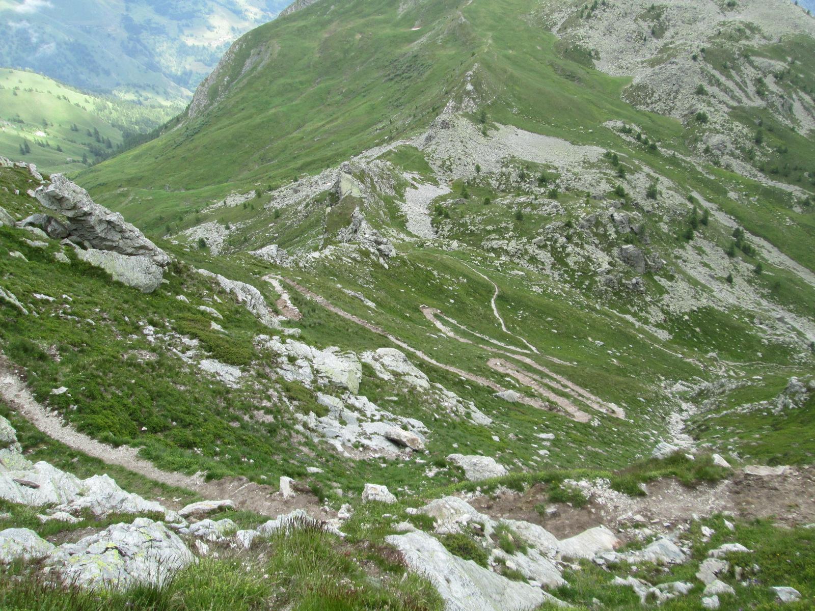 il bel sentiero per il colle di Chiosso Superiore