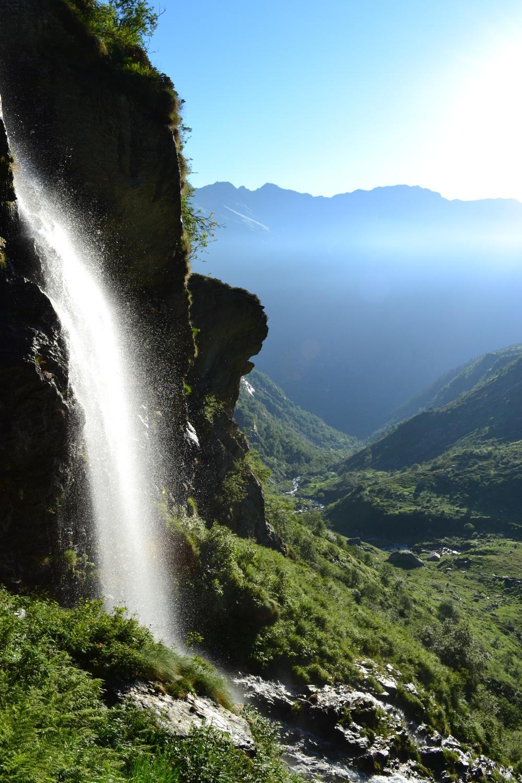 cascata salendo all'Alpe Las