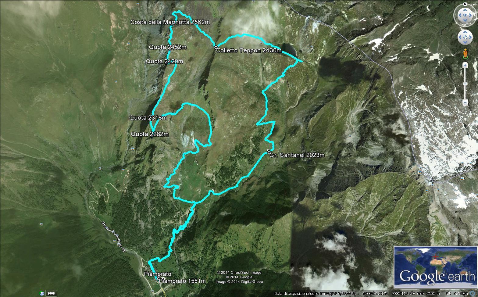 Anello Costa della Marmotta-Lago Santanel