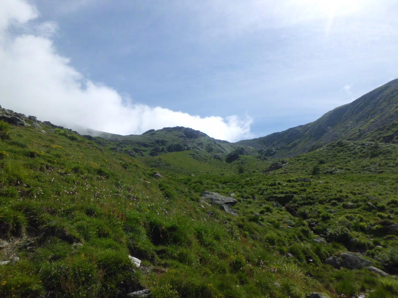 Rocca Maunero dall' A.Paglia e pendii di salita