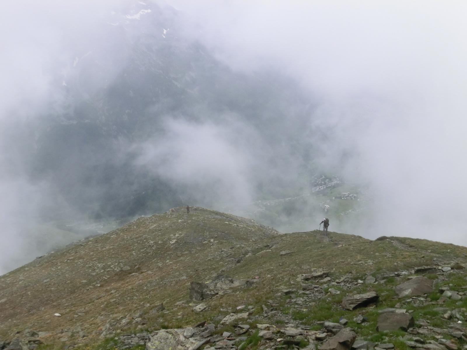 La nuvolosità ha avvolto le cime per quasi tutto il giorno