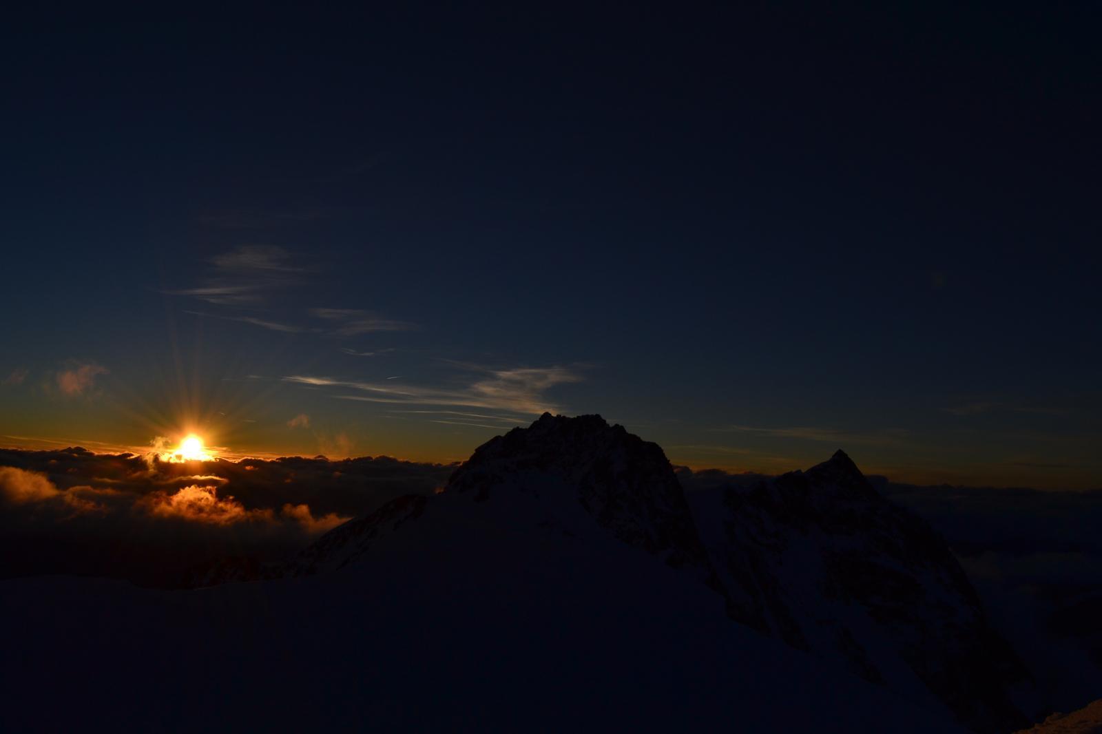 tramonto su dufour e nordend