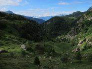 La valletta sottostante la diga di Cignana da cui si sale