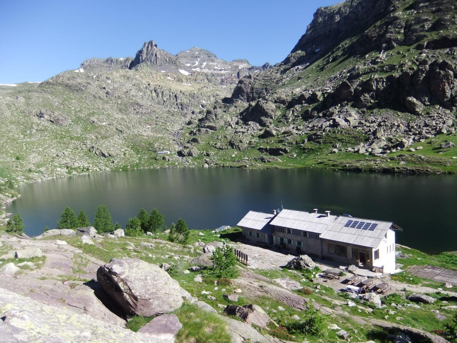 Rifugio,Lago LUngo Superiore e Cima delle Meraviglie