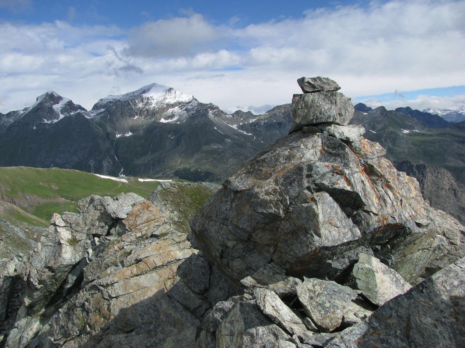 Il punto culminante con sfondo Delà e Glacier