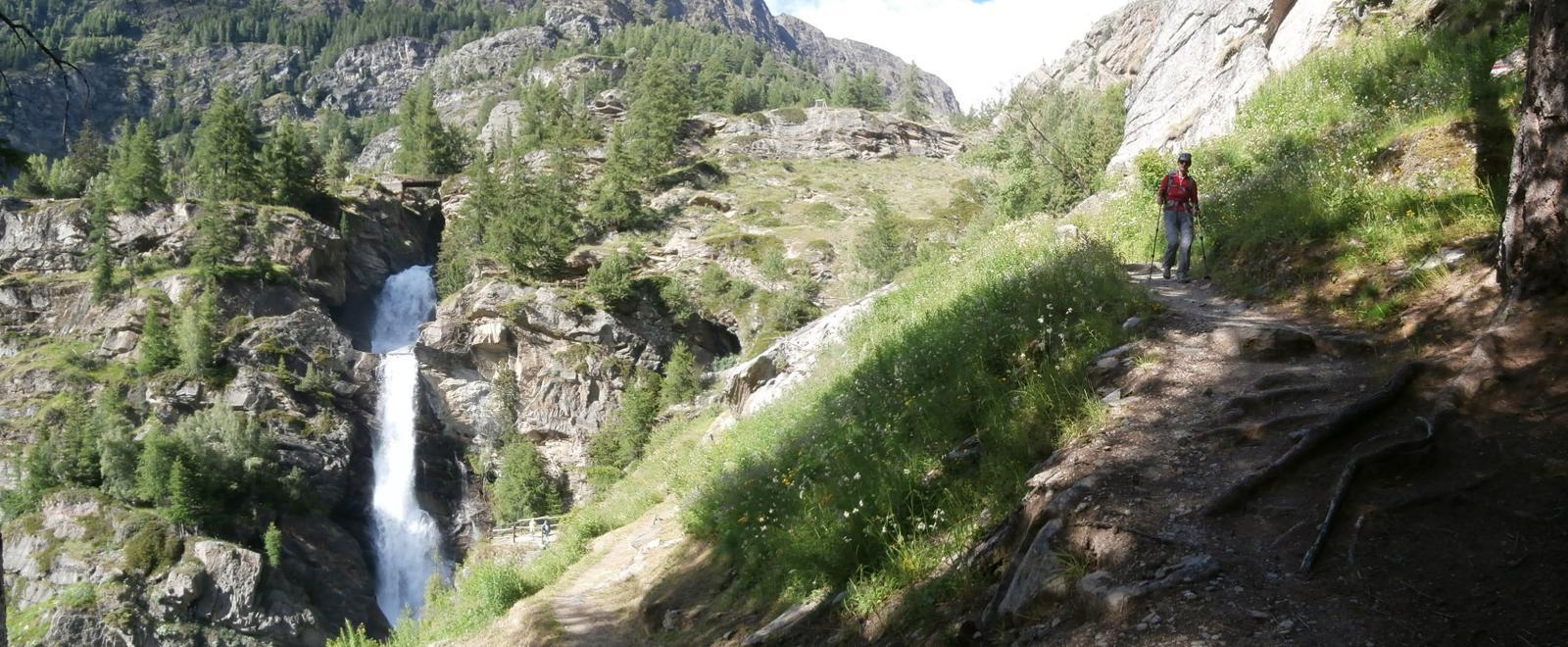 quasi arrivati a Lillaz,l'omonima cascata....
