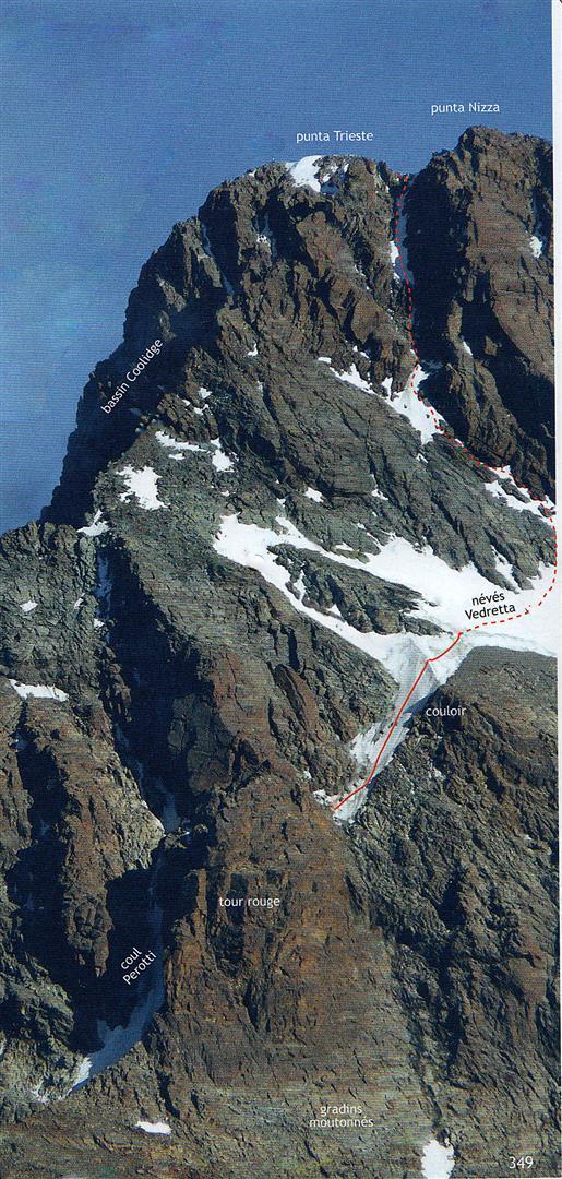 tracciato parte alta ( Escalades en Queyras Pays du Viso - Vallot)