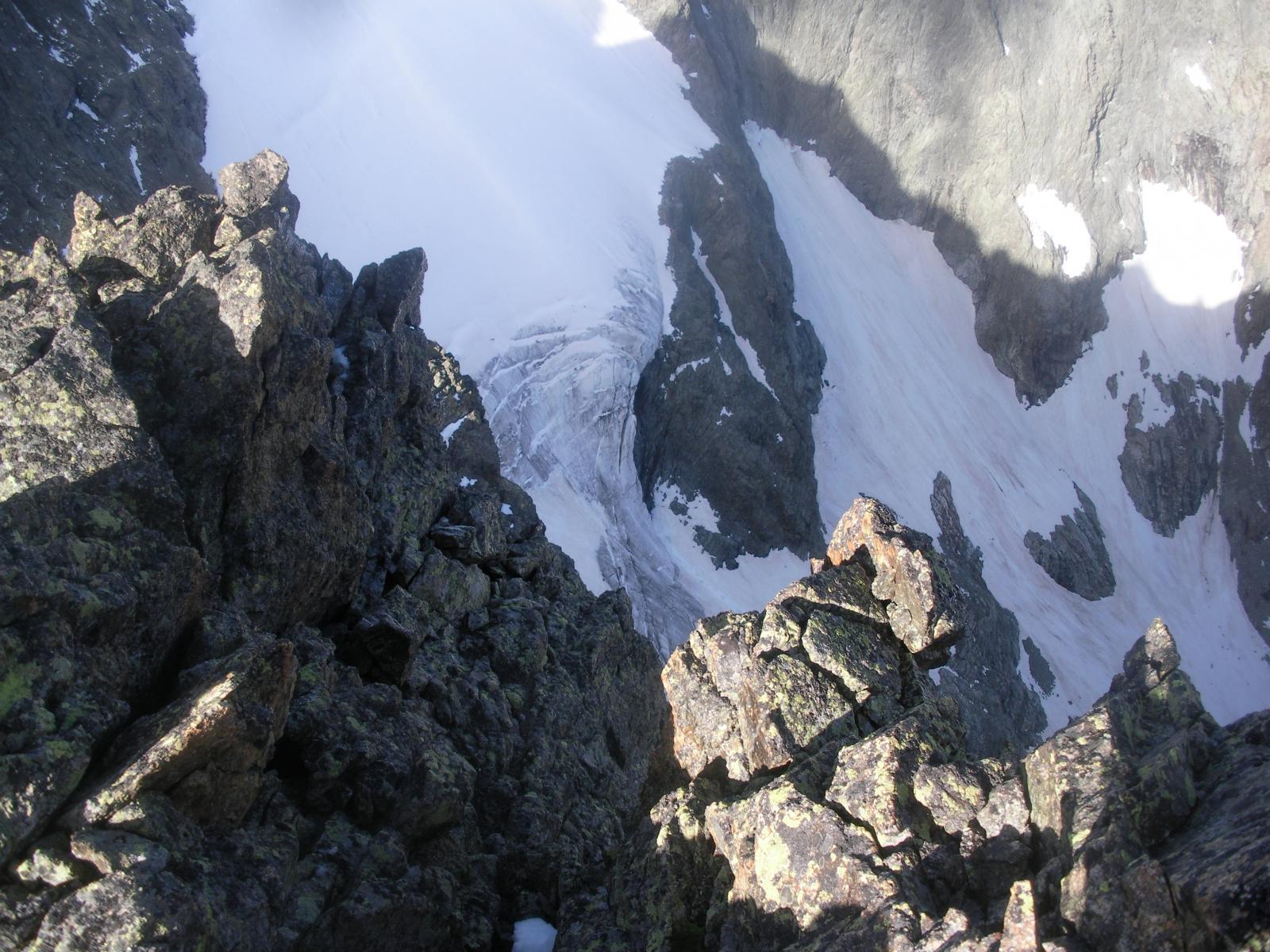 un flash sulla nord del Dome de Cian dalla cresta di Balanselmo..