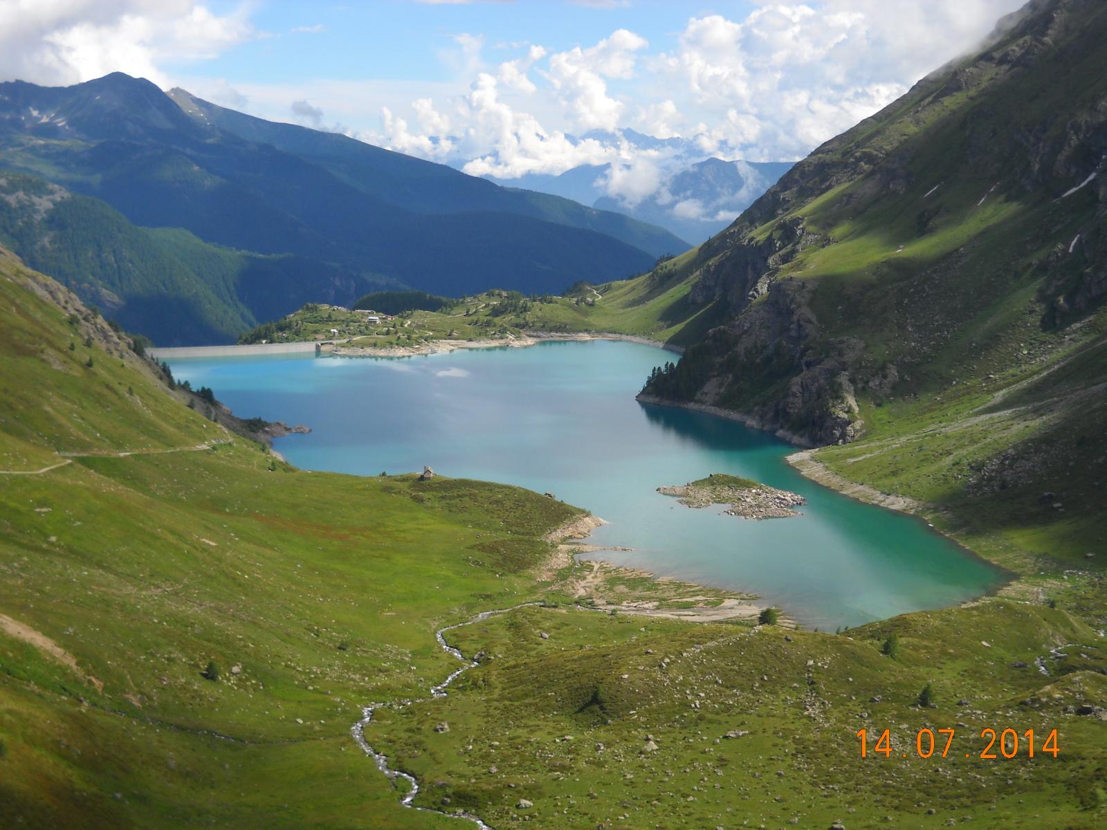 Lago di Cignana 2158mt.