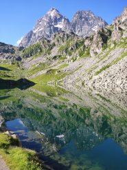 Viso e Visolotto a specchio nel lago Fiorenza