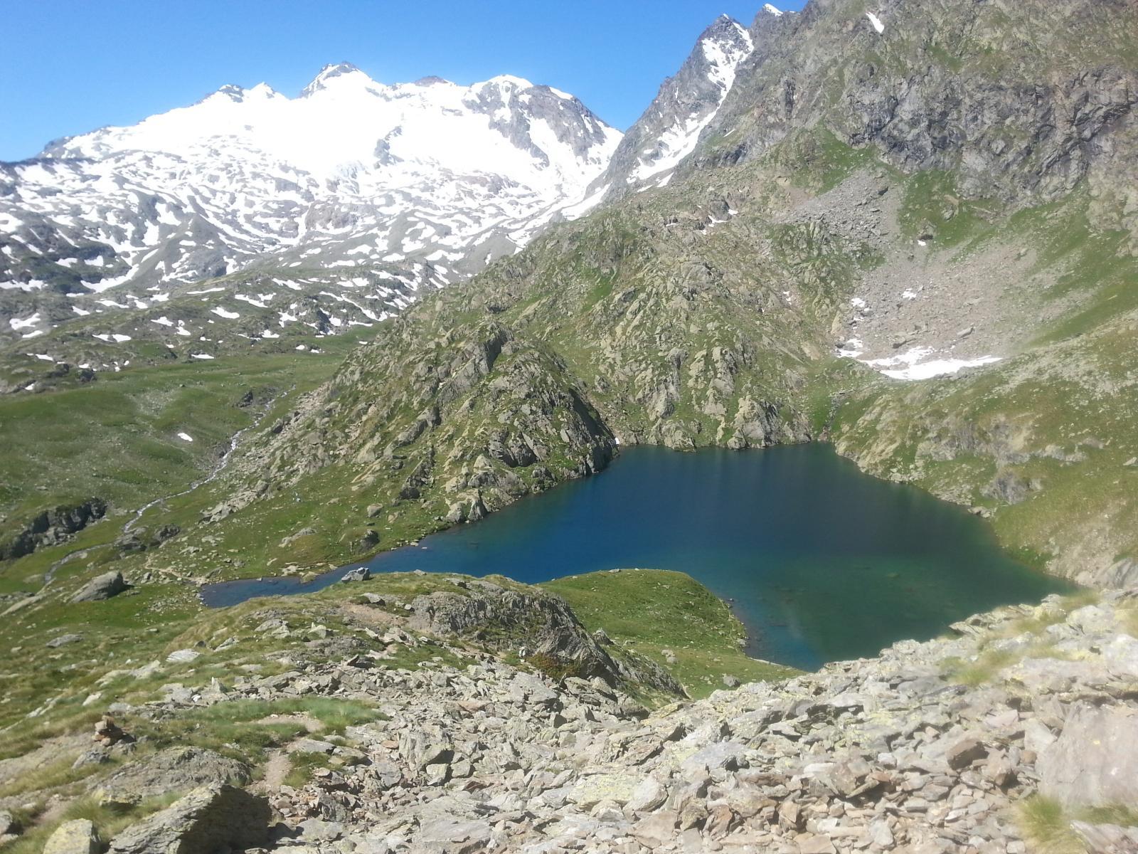 Lac du Fond e ghiacciaio del Ruitor