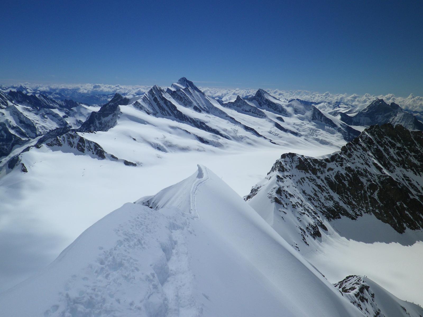 panorama su alcune cime dell'Oberland bernese