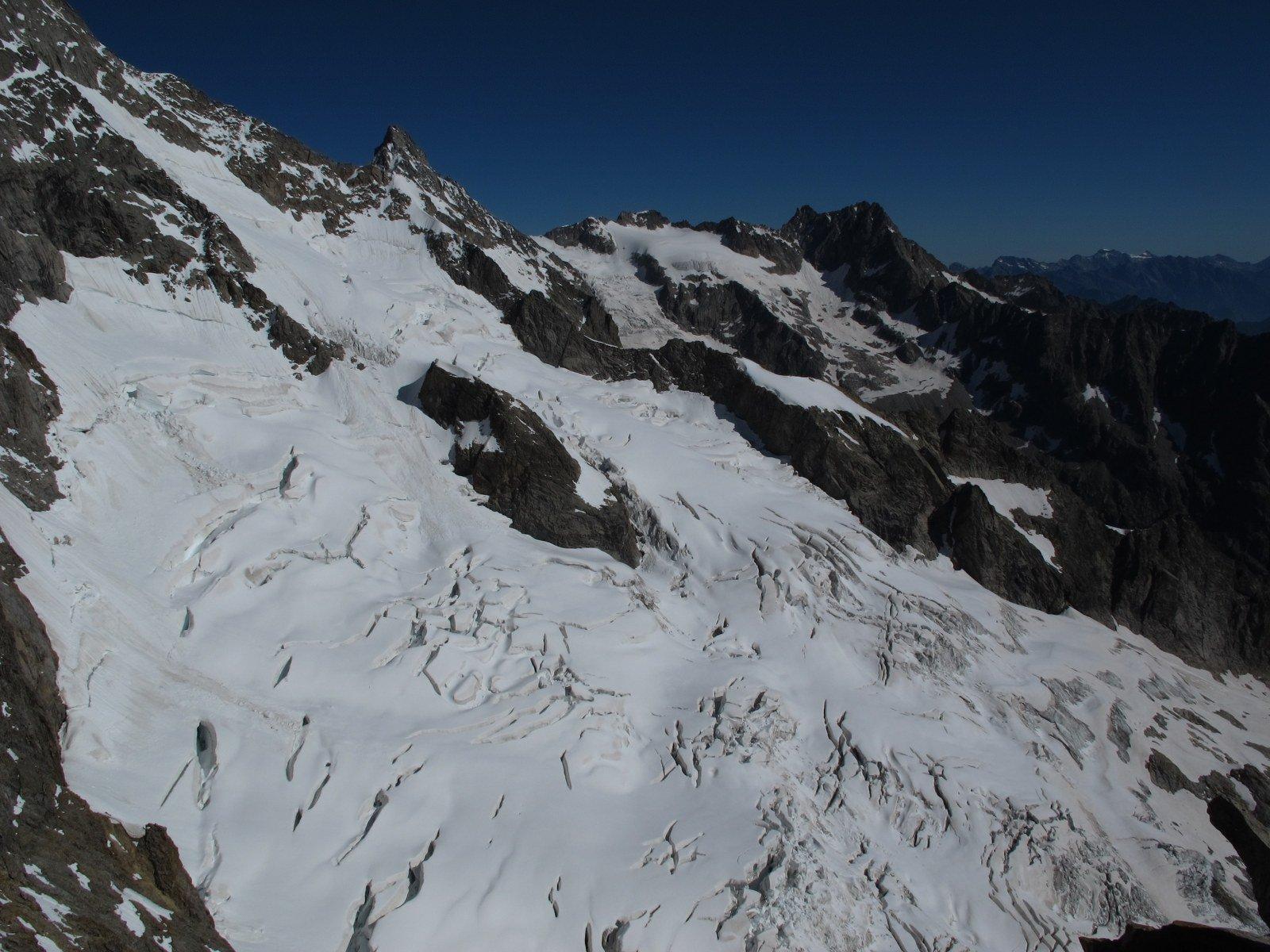 Dalla cima verso il ghiacciaio del M.D