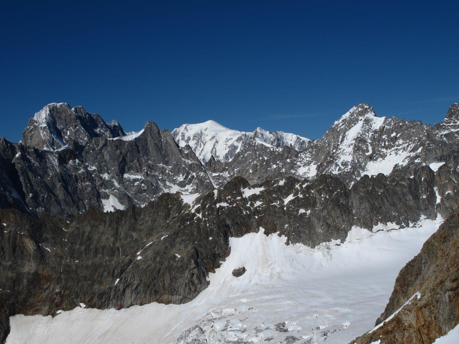 Gran panorama su Bianco e Jorasses