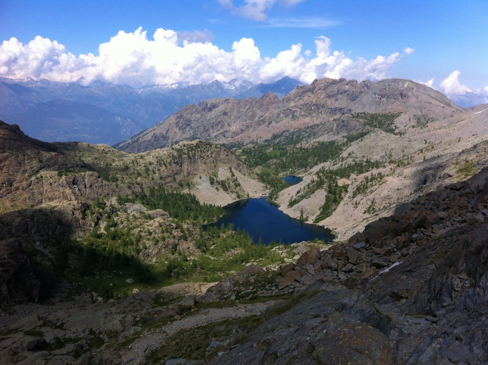 Ivertaz (Monte), Envers du Lac Gelè e Punta di Mezove da Veulla, anello per i laghi e Rifugio Barbustel 2014-07-18