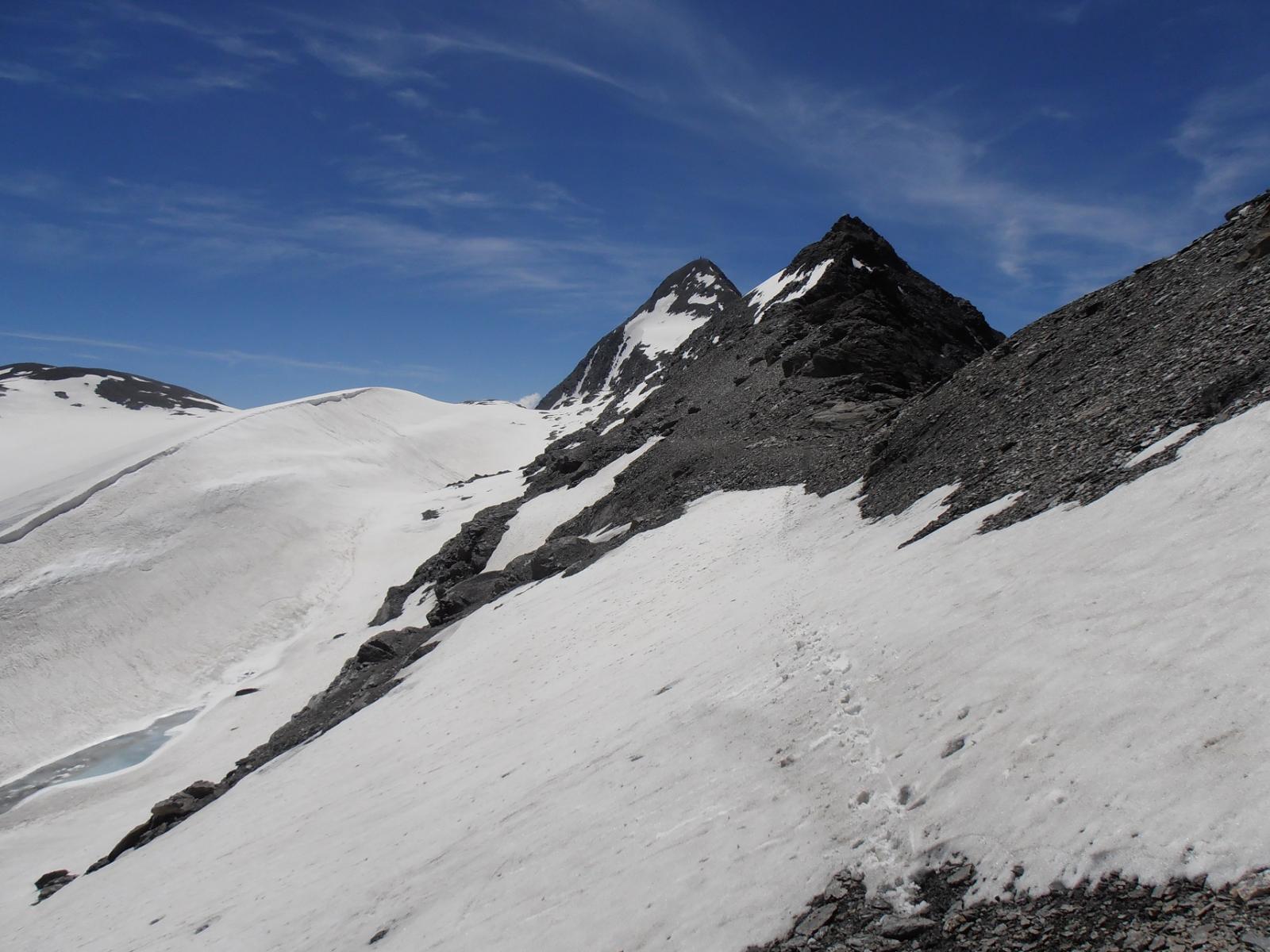 07 - appena superata la Punta di Novalesa, Rocciamelone sempre sullo sfondo