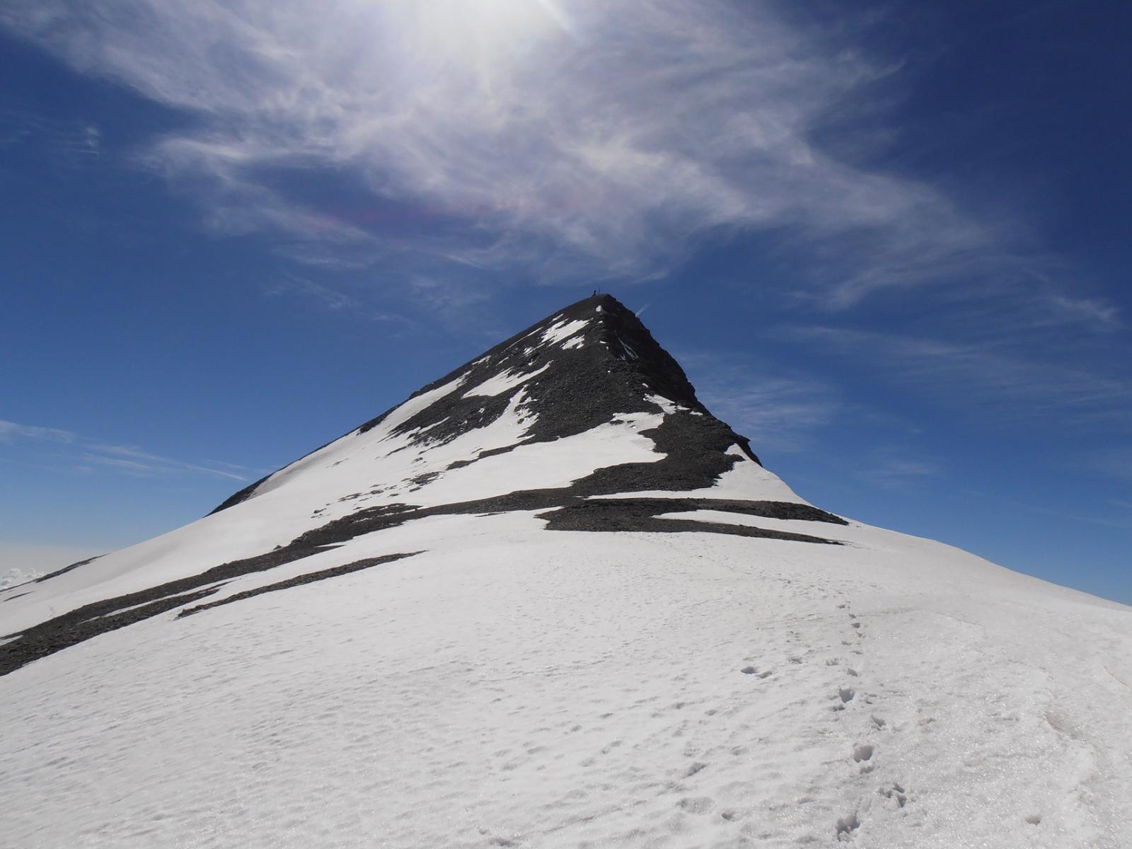 05 - appena scesi dalla cresta, inizio dei glacio-nevai
