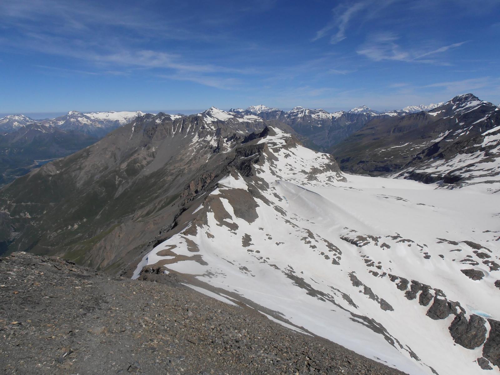 04 - vista del ghiacciaio omonimo dal Rocciamelone
