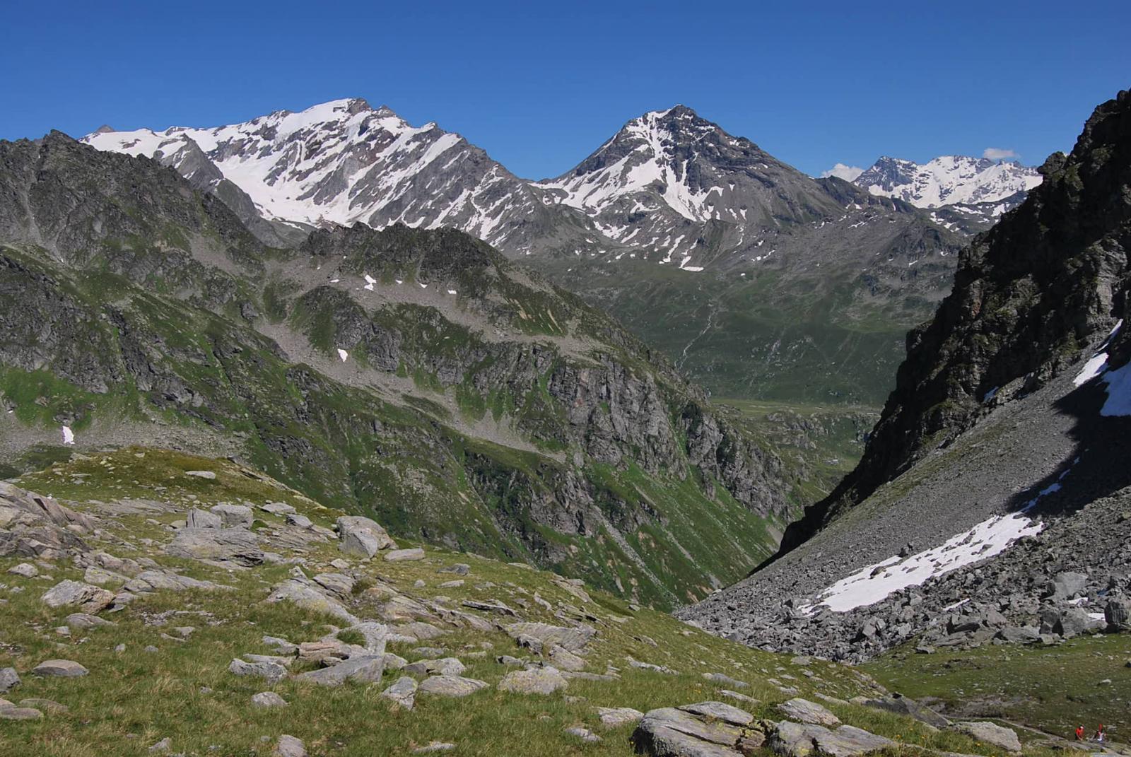 Becca du Lac, Col de la Sachere e Gran Becca du Mont dal Col du Retour