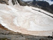 Conchiglia di neve al Baus dalla cengia della Sud