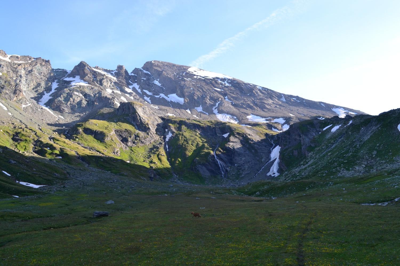 Mont Avril illuminato dal sole