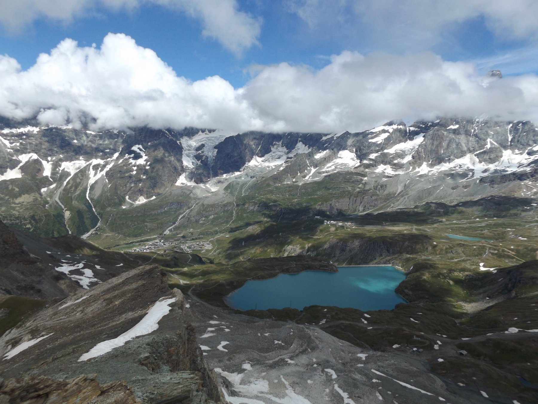 Panorama su Cervinia - Plan Maison e lago Goilet