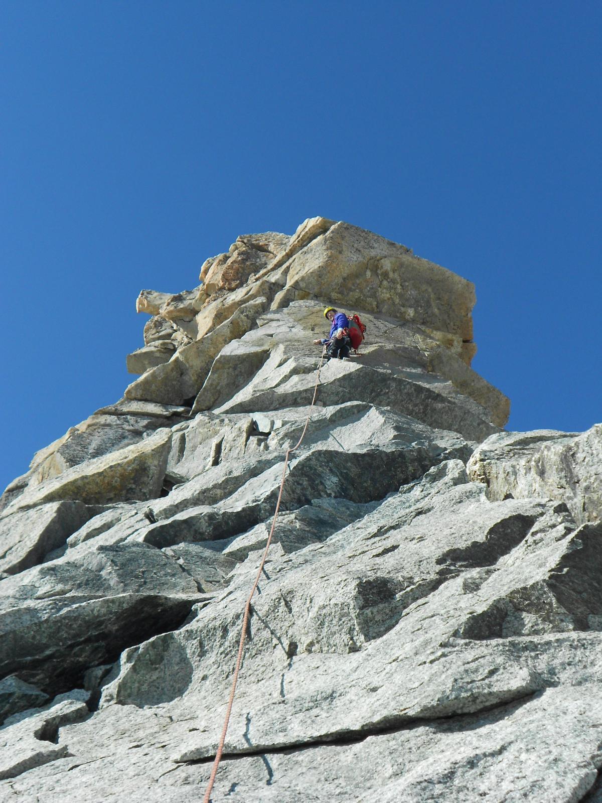 Sul Gran Gendarme, roccia super!