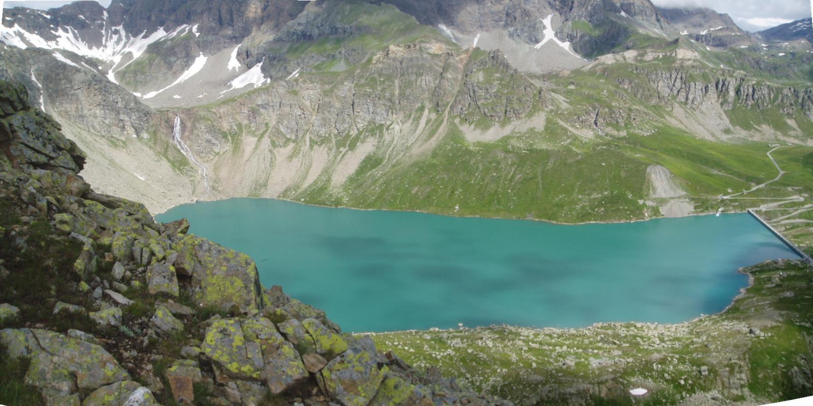 lago serrù dalla cima