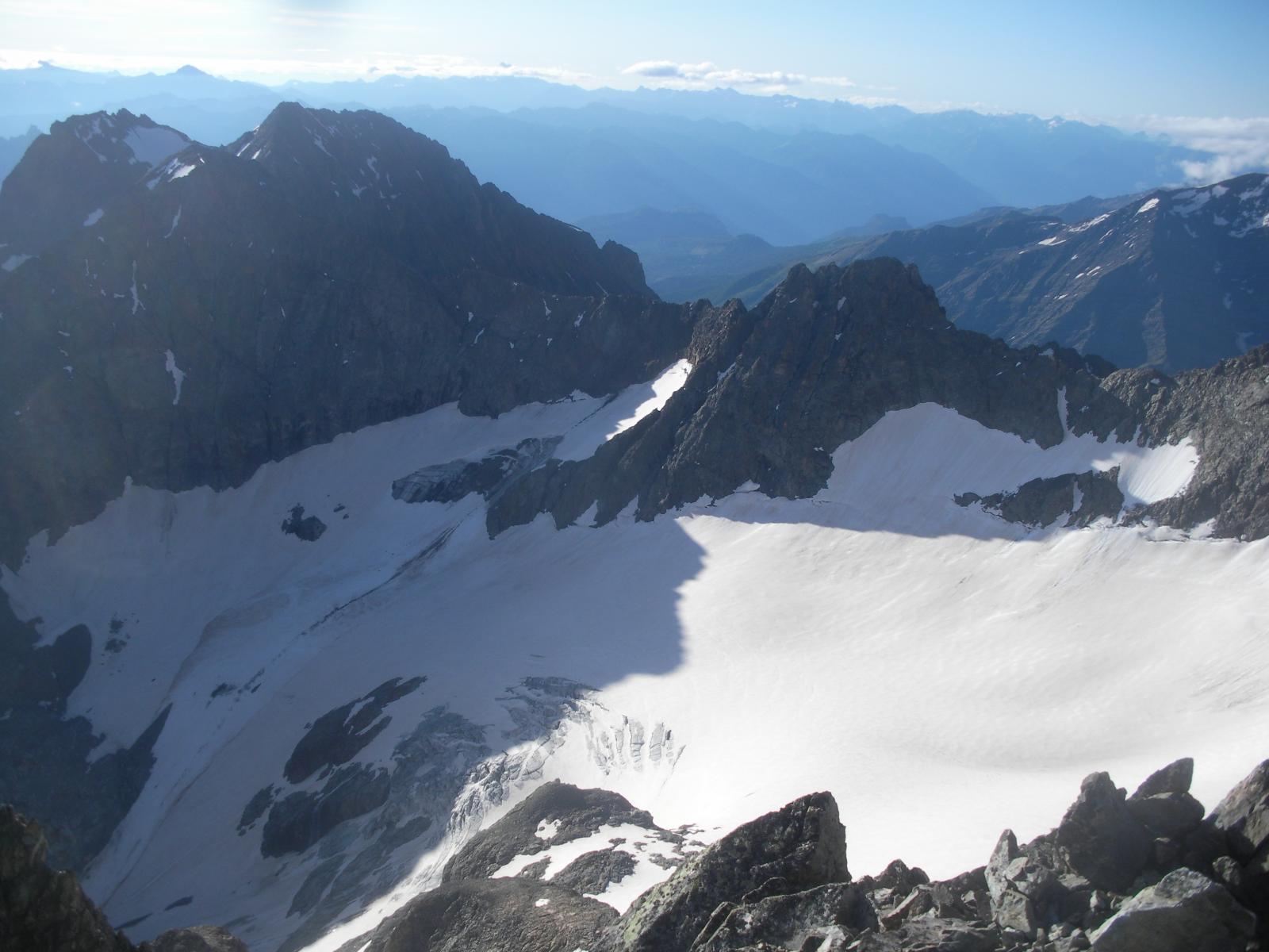 Le Glacier du Sele'..di salita dalla vetta..