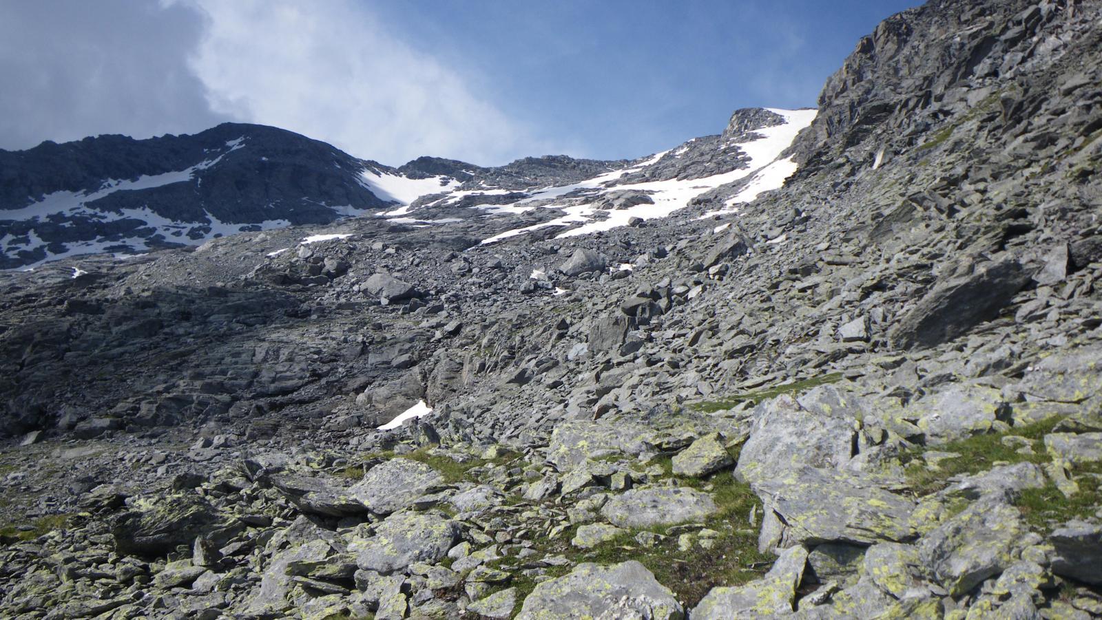 quel che resta del ghiacciaio di Bard...