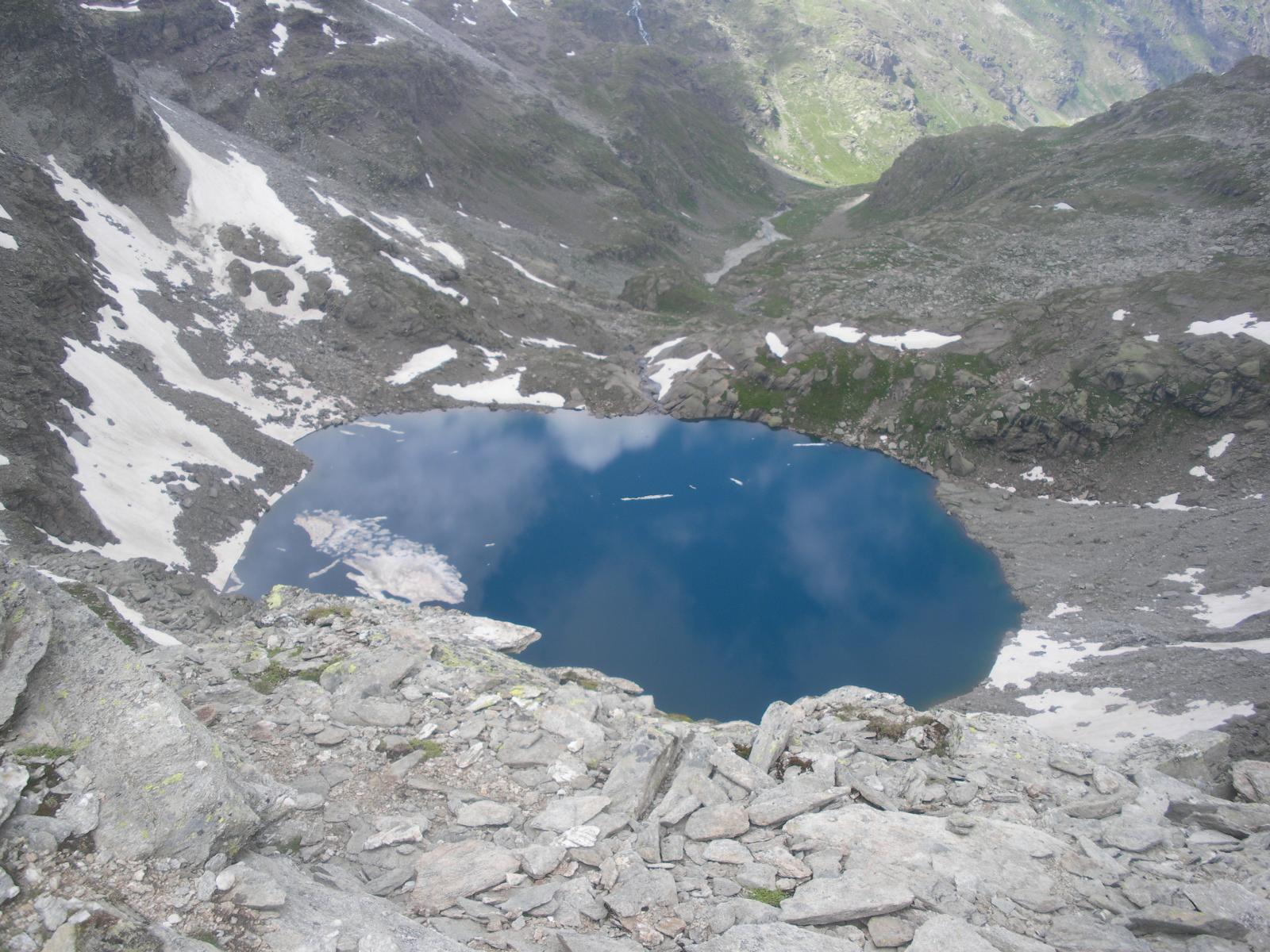 l'intenso colore blu del Lac du Fond d'Ambin..