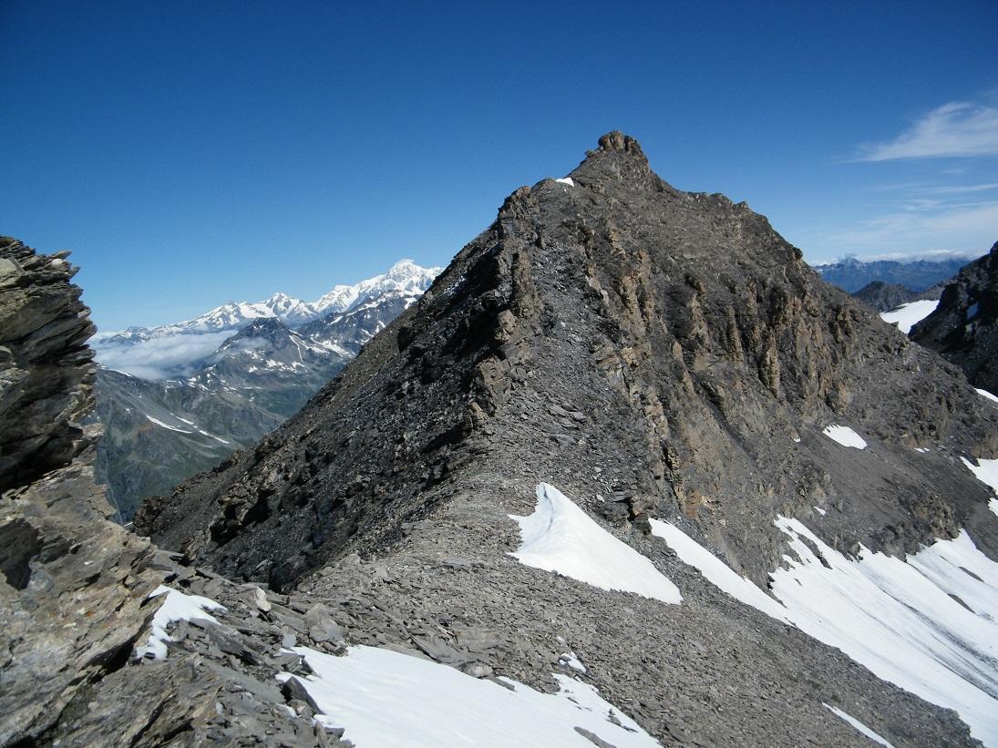 La cima vista dall'anticima