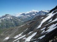 Il Monte Bianco visto dal Colle