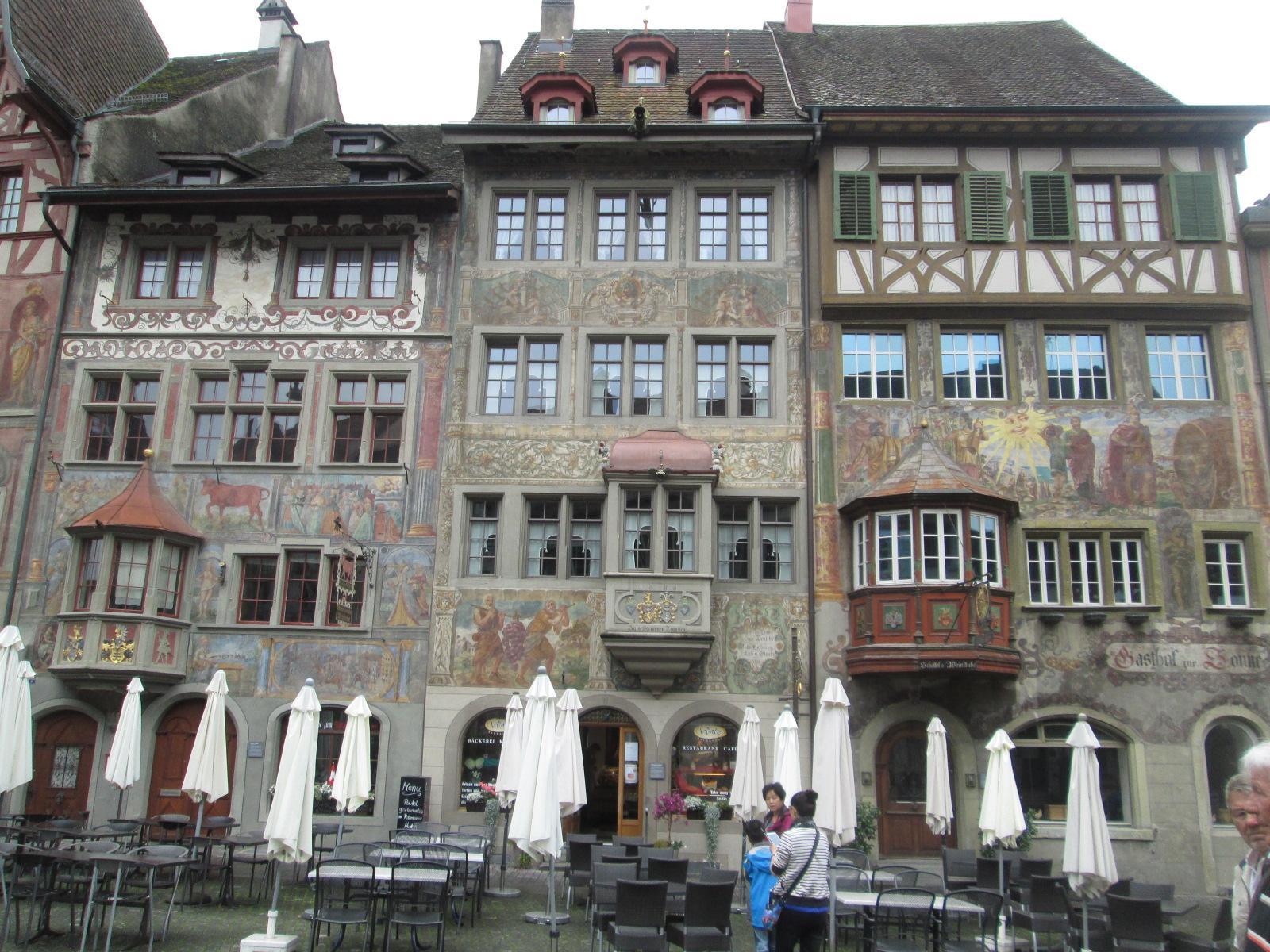 la bella piazza di Stein an Rhein