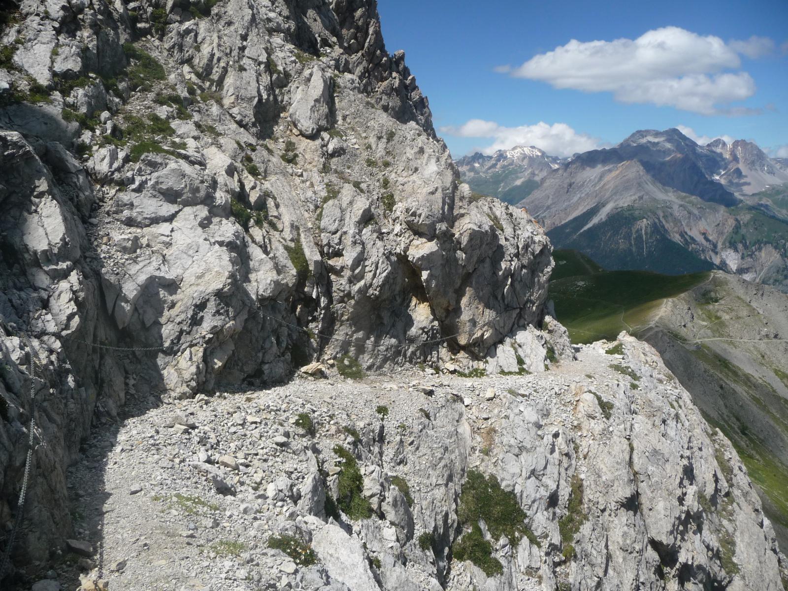 tratto della ferrata degli alpini
