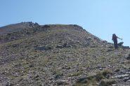La dorsale da seguire per la cima